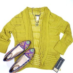 NWT Sweaterworks Lightweight Crochet Sweater, S